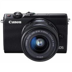 CANON EOS M100 レンズキット ブラック ミラーレス一眼 やや斜め上から